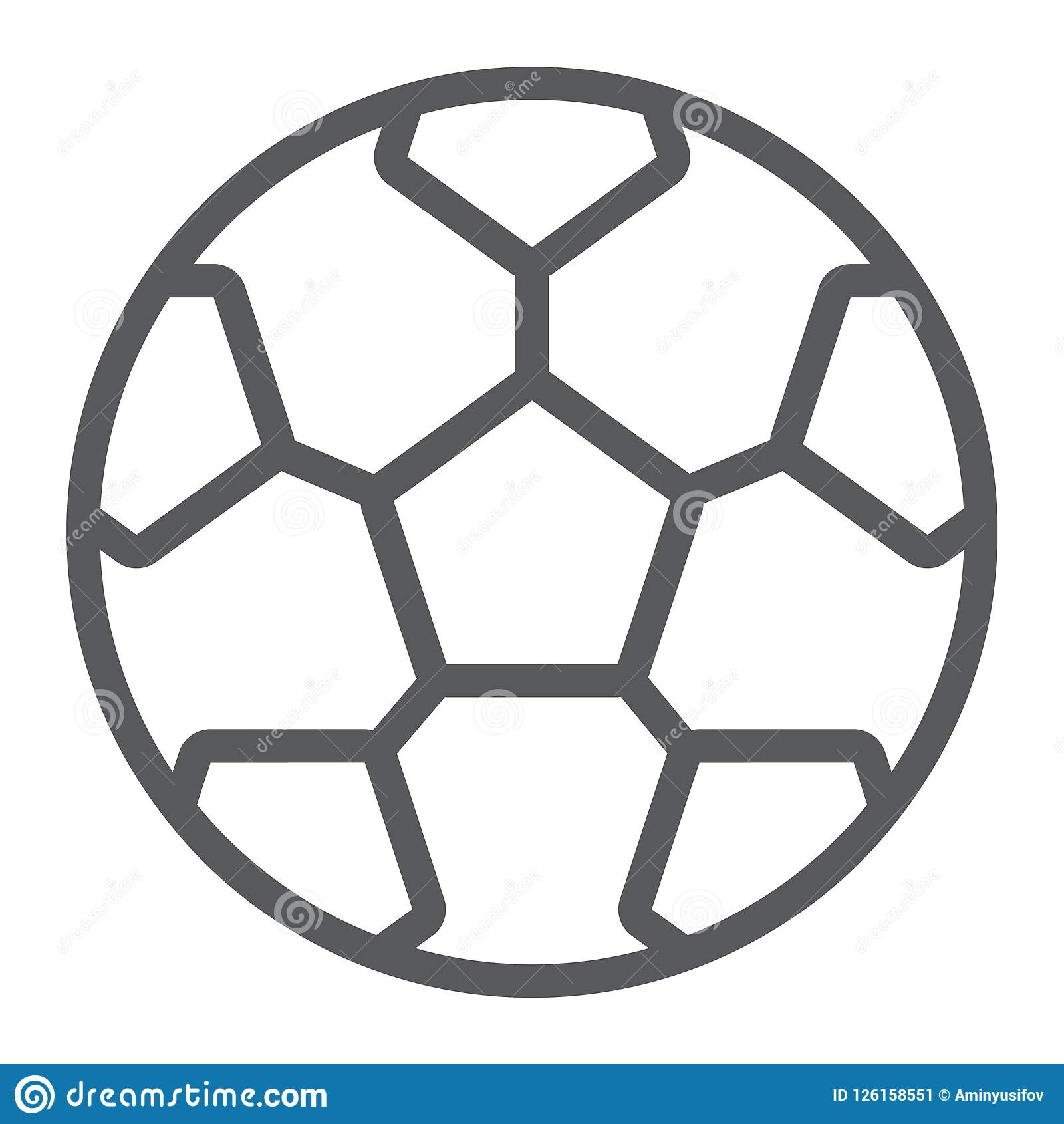c5bfa680a47956 Soccer Ball Line Icon