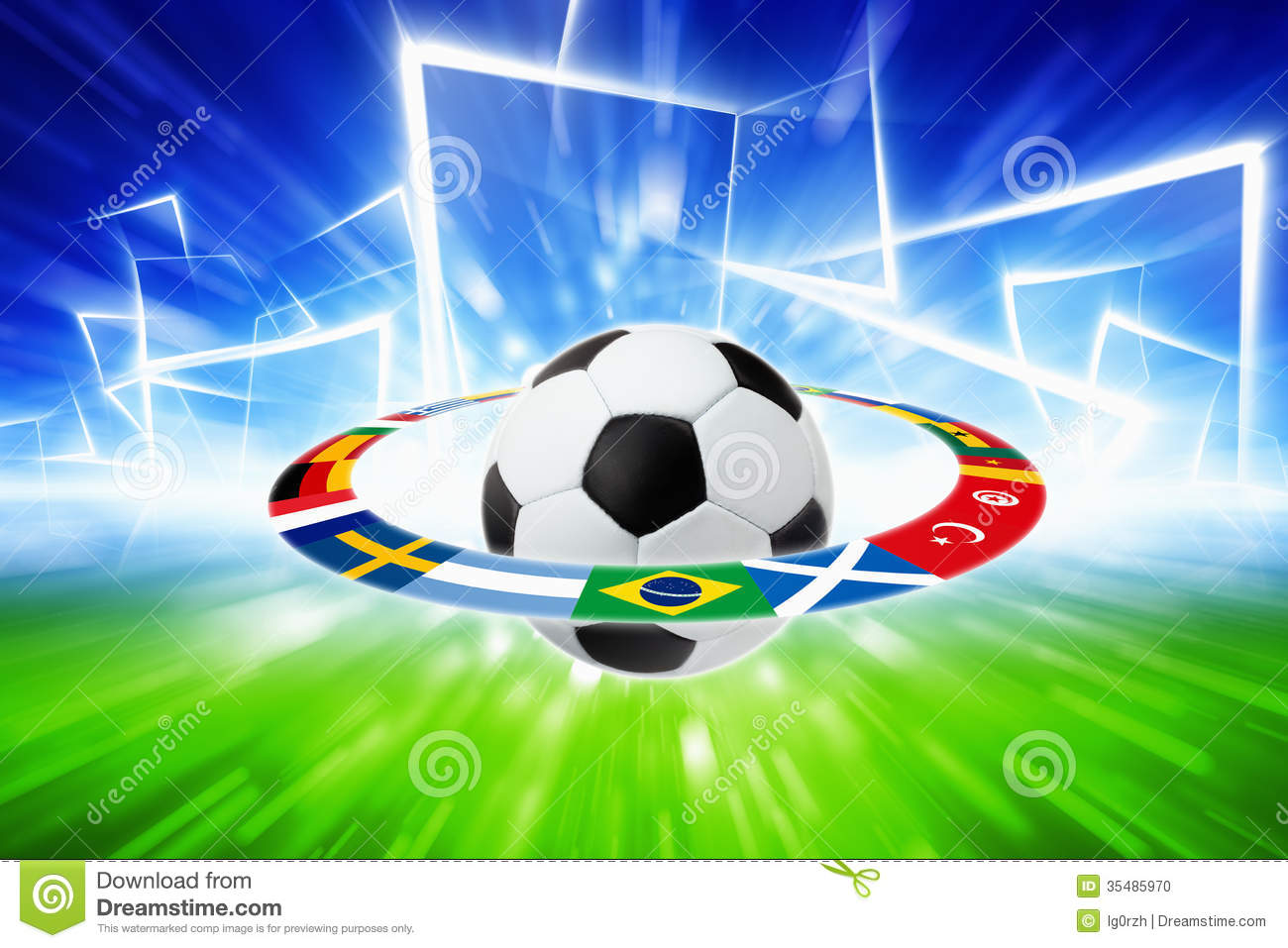 Soccer Ball, National Team Flags Stock Photo - Image: 35485970