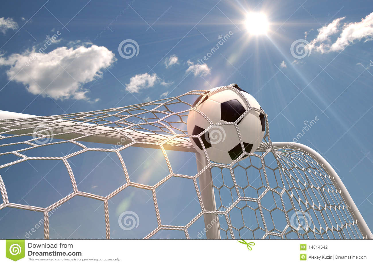 Soccer Ball In The Net Stock Photography Image 14614642