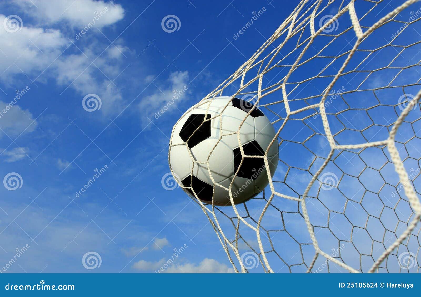 soccer ball in net stock photo image of score penalty