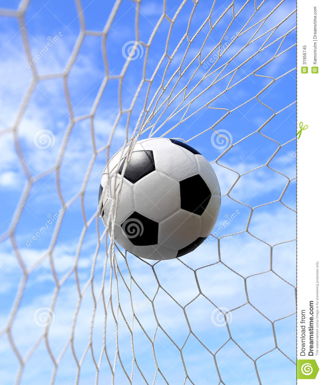 Soccer Ball In Net Royalty Free Stock Photo - Image: 31956745
