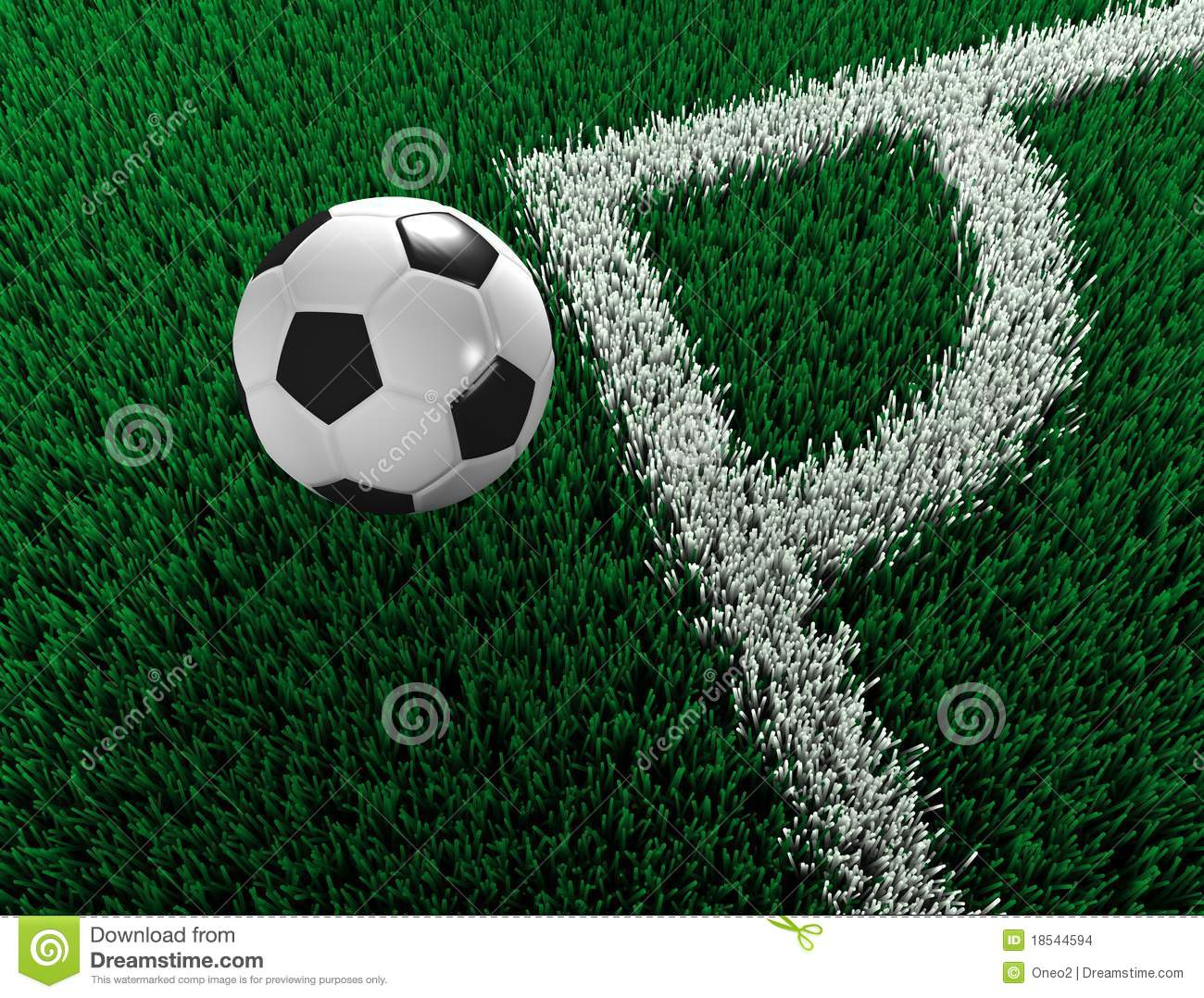 Soccer Ball Outside Field Stock Images Image 18544594
