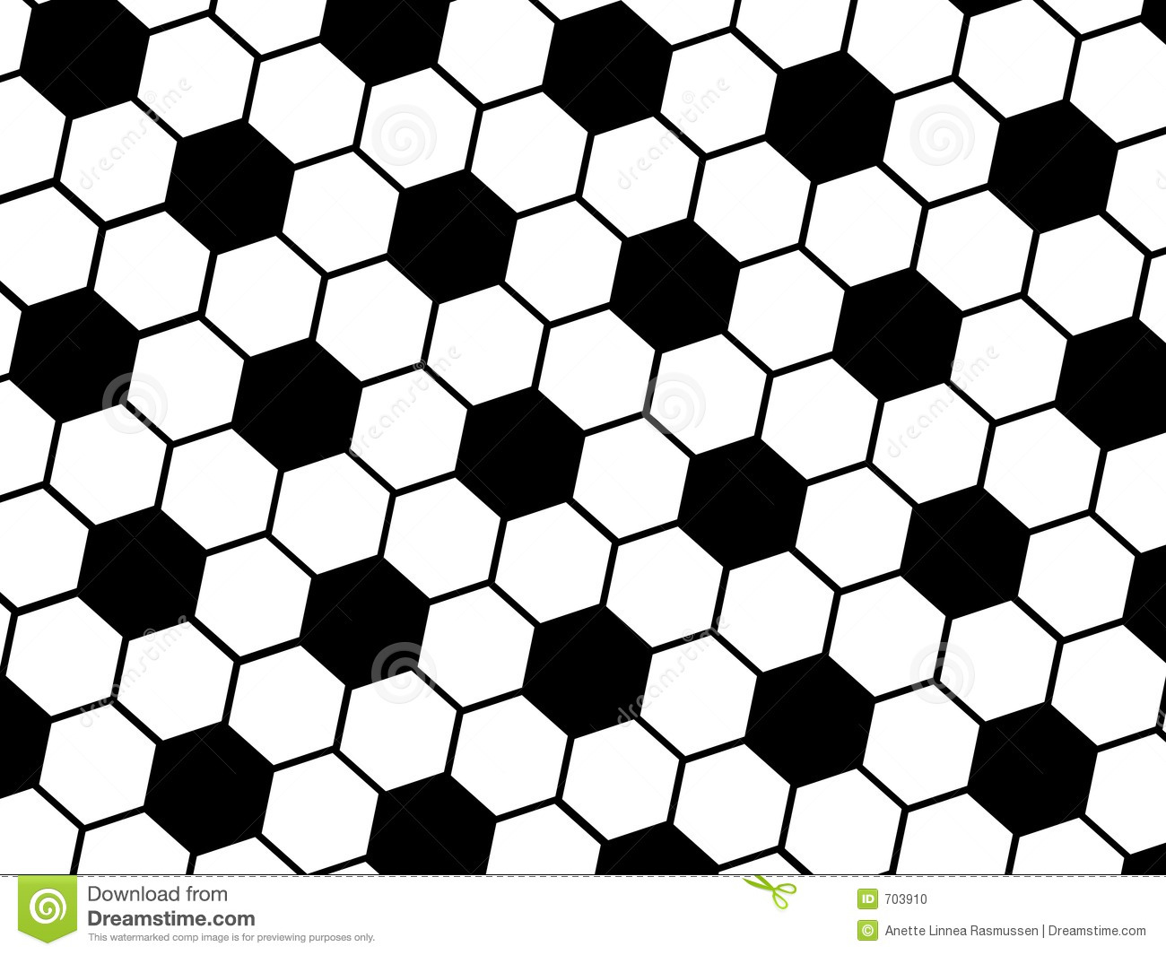 Background of black and white soccer ball pattern.