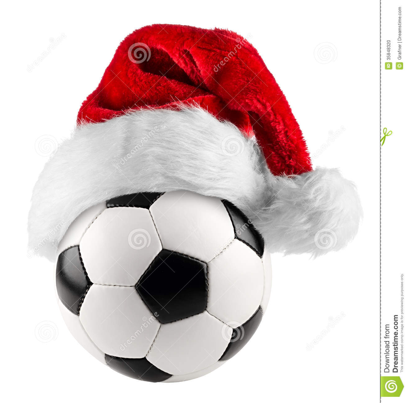 6f84caacb51 Soccer ball santa hat stock photo. Image of santa