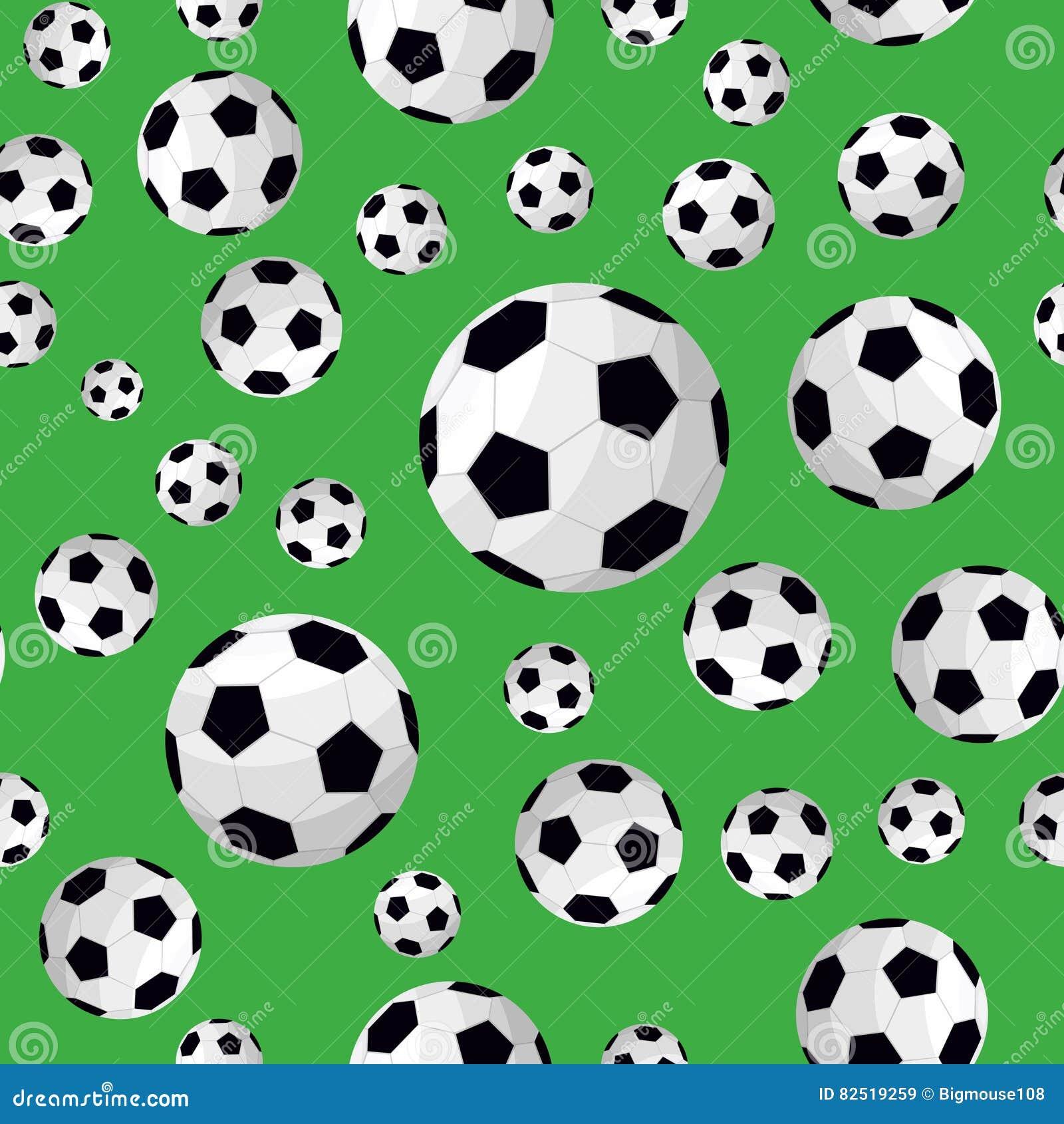 seamless football pattern  vector cartoon vector clip art of soccer ball basketball football clipart of soccer balls