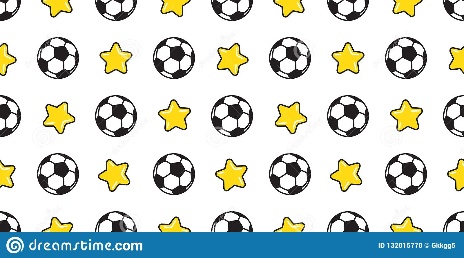 Sport Wallpaper Pattern: Soccer Ball Seamless Pattern Vector Football Star Sport