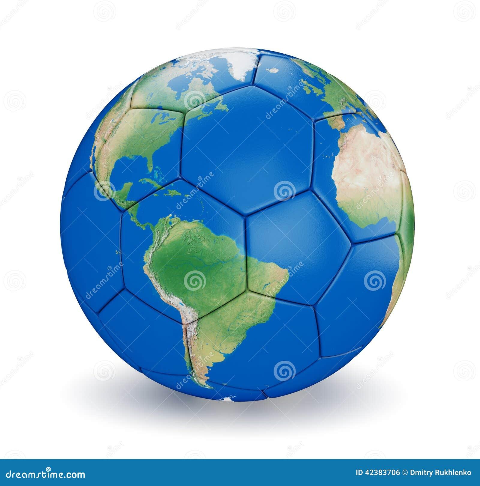 Soccer Ball Shaped Earth Stock Illustration - Image: 42383706