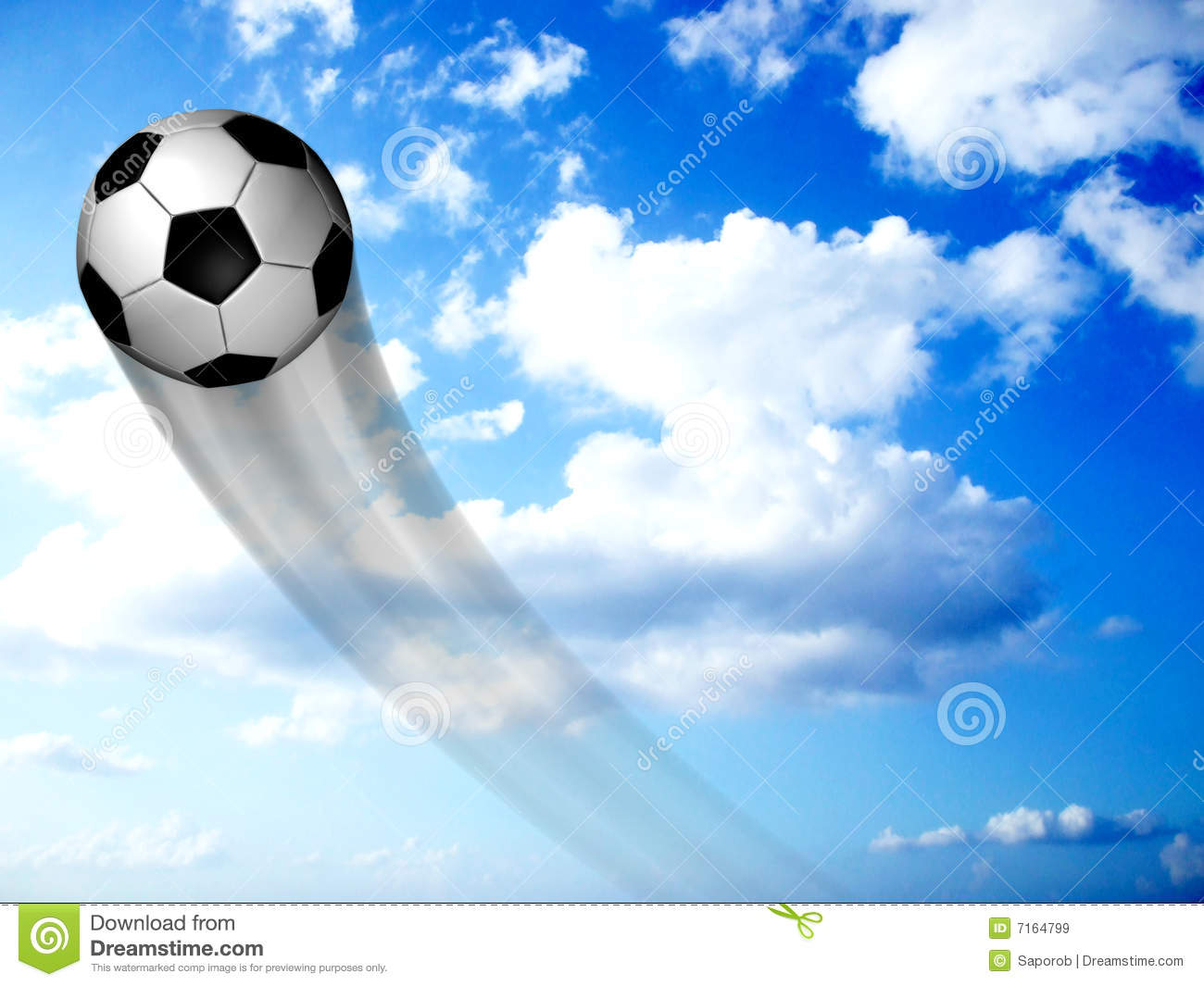 Soccer Ball In The Sky Royalty Free Stock Images - Image ...