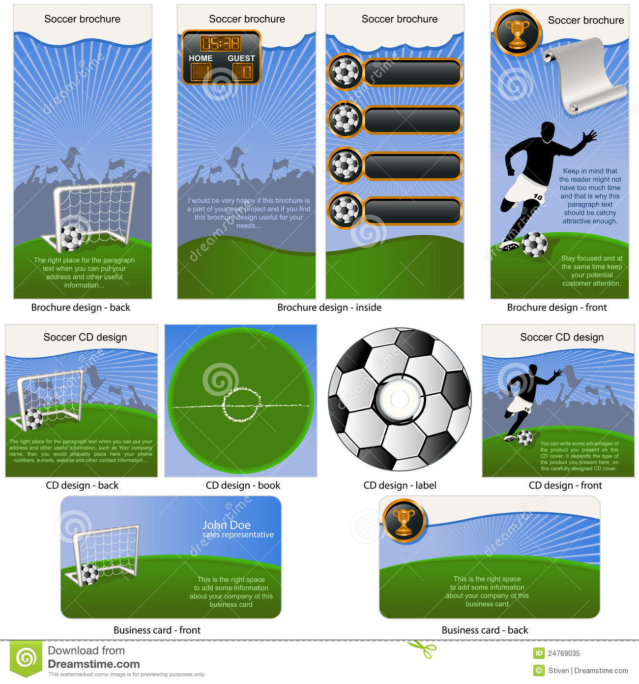 Soccer business card template stock vector image 21804444 soccer ball stationary royalty free stock photo magicingreecefo Gallery