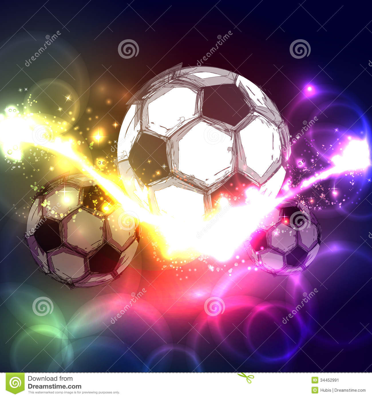 Soccer ball stock vector. Image of messy, goal, passion - 34452991