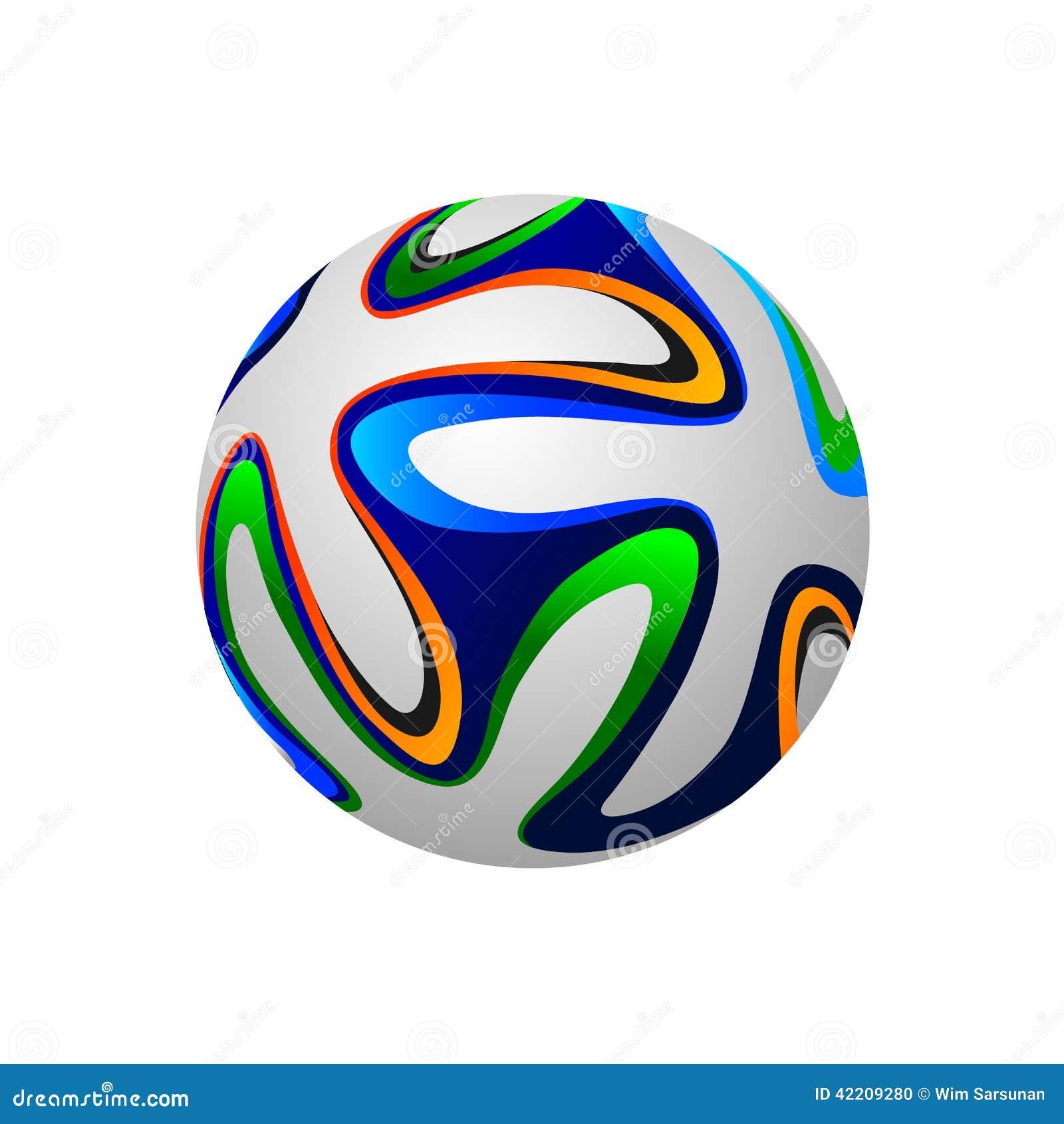 Soccer ball 2014, vector illustration