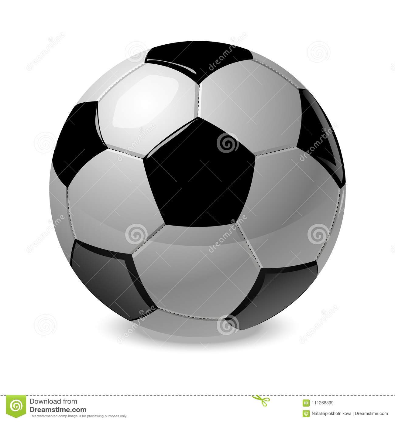 Soccer ball. Vector. Sport. Object.