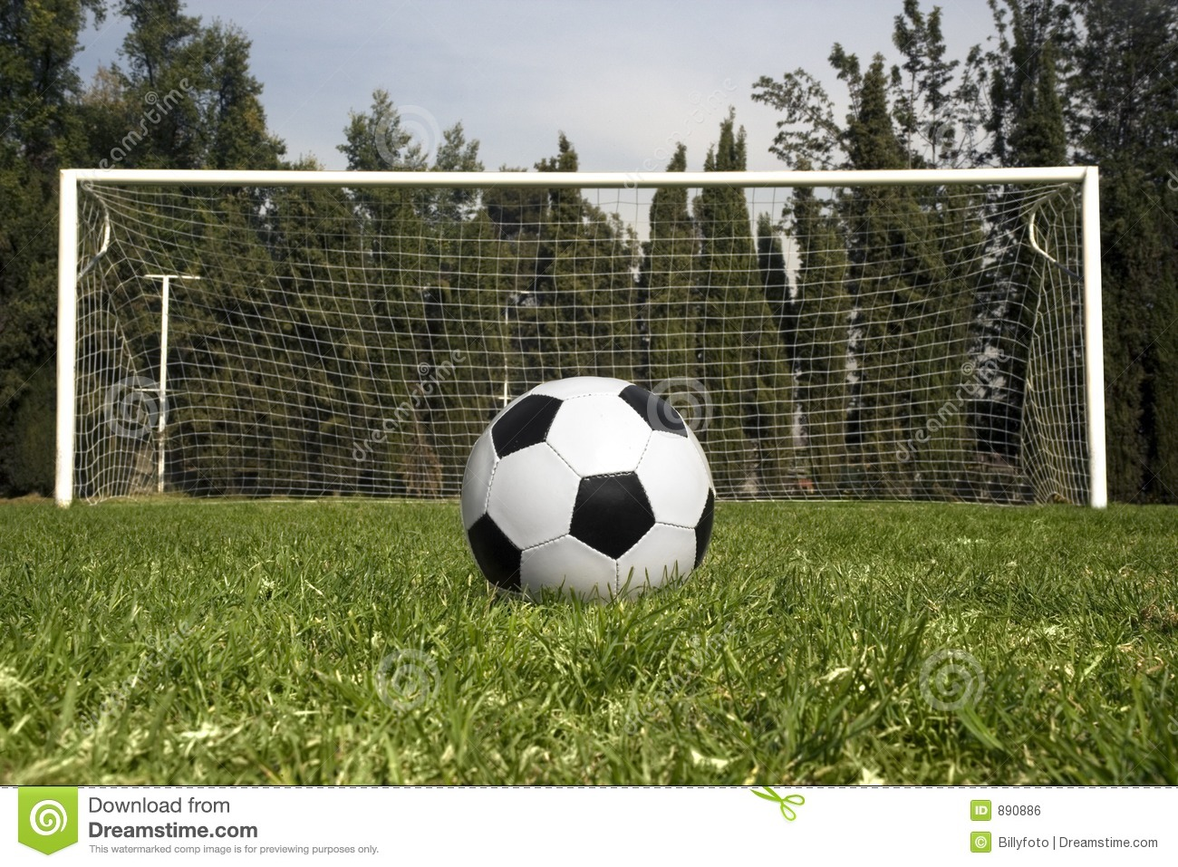 Soccer Ball Waiting To Be Kicked Stock Photo - Image of competition ... 5c65f97c1