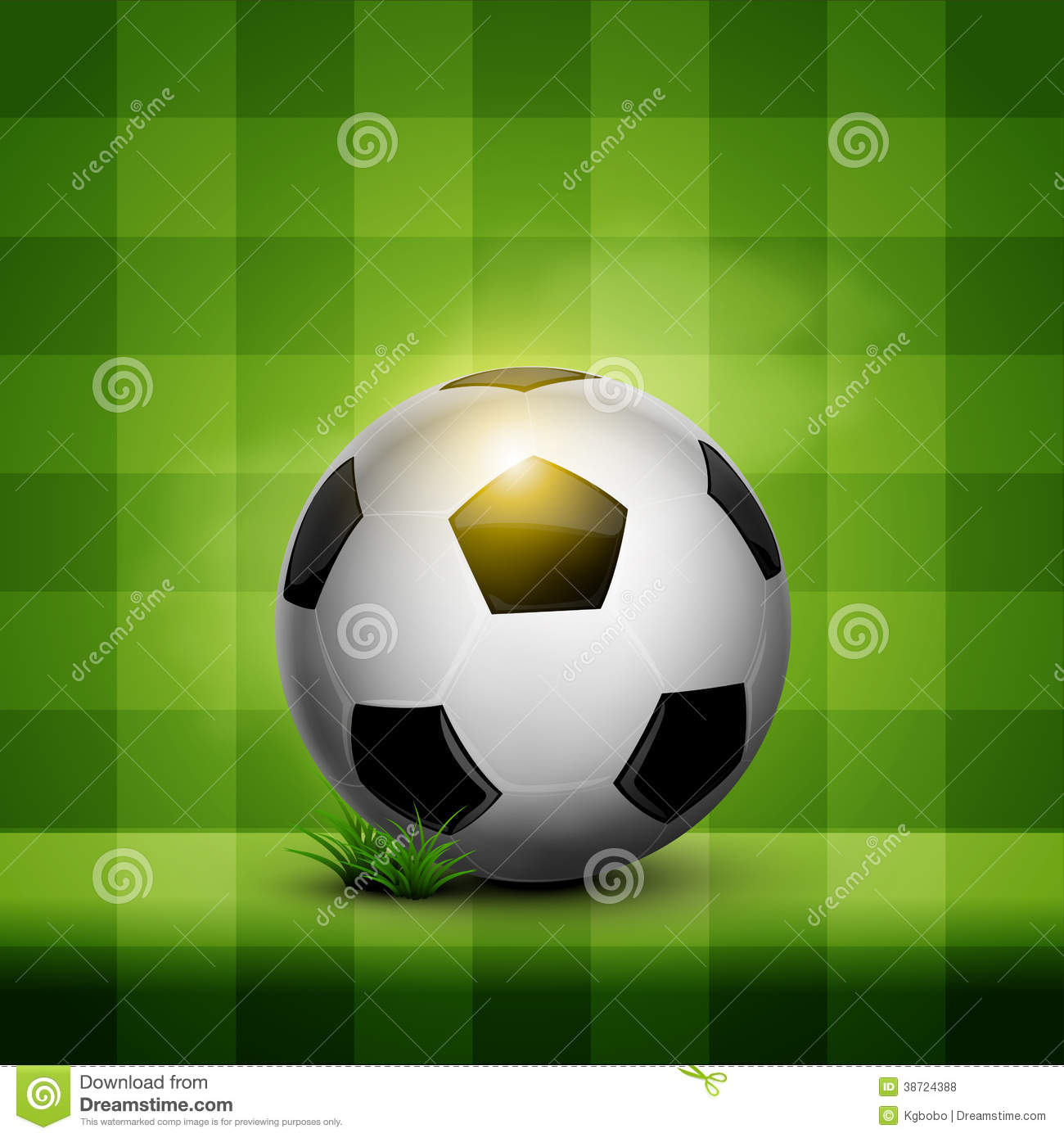 Soccer Ball On Wallpaper Royalty Free Stock Photos