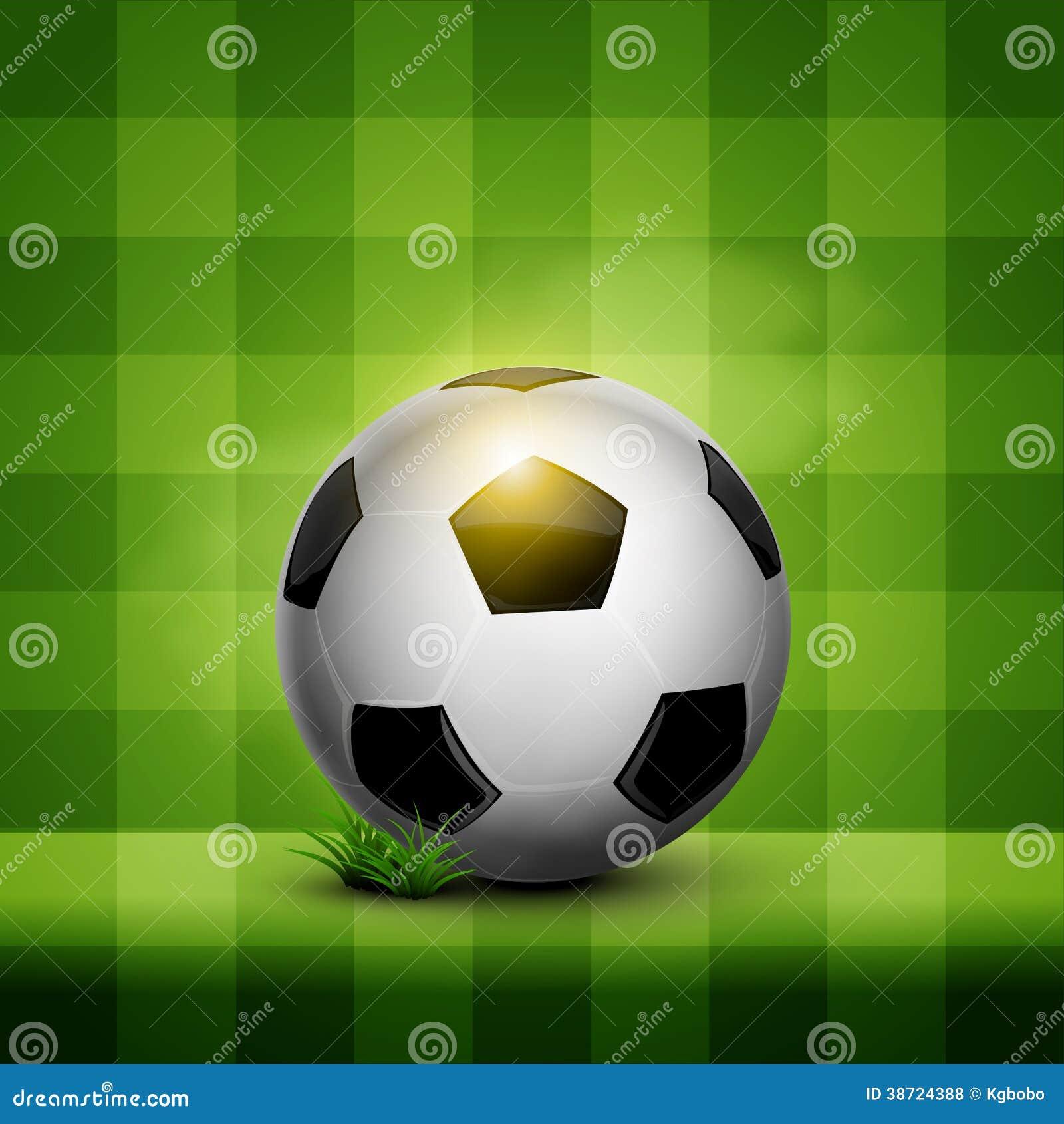 soccer ball on wallpaper royalty free stock photos