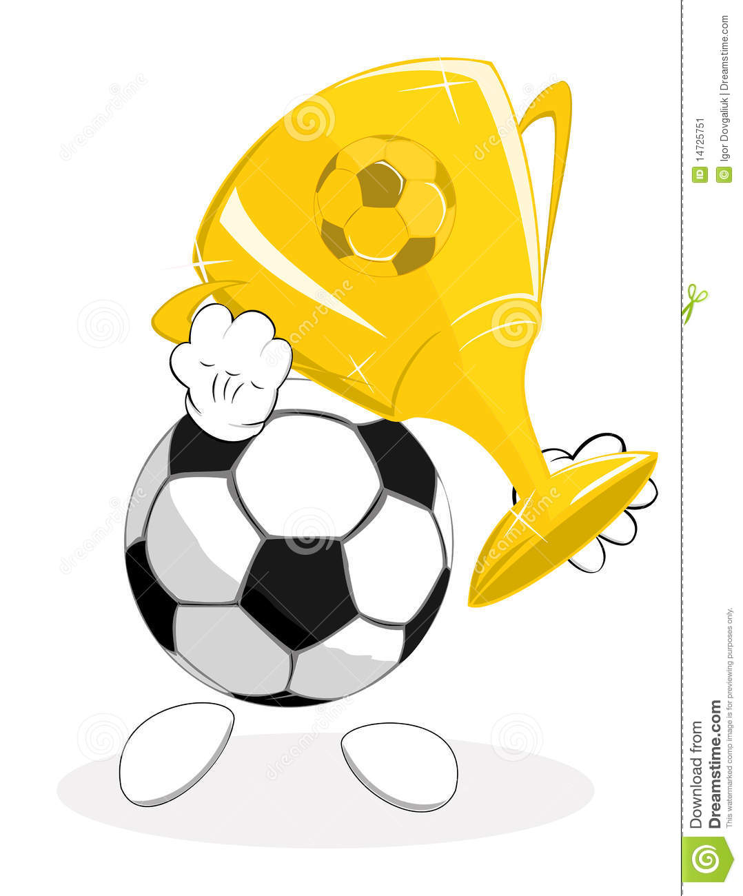 Soccer Ball The Winner With Trophy Stock Image - Image ...