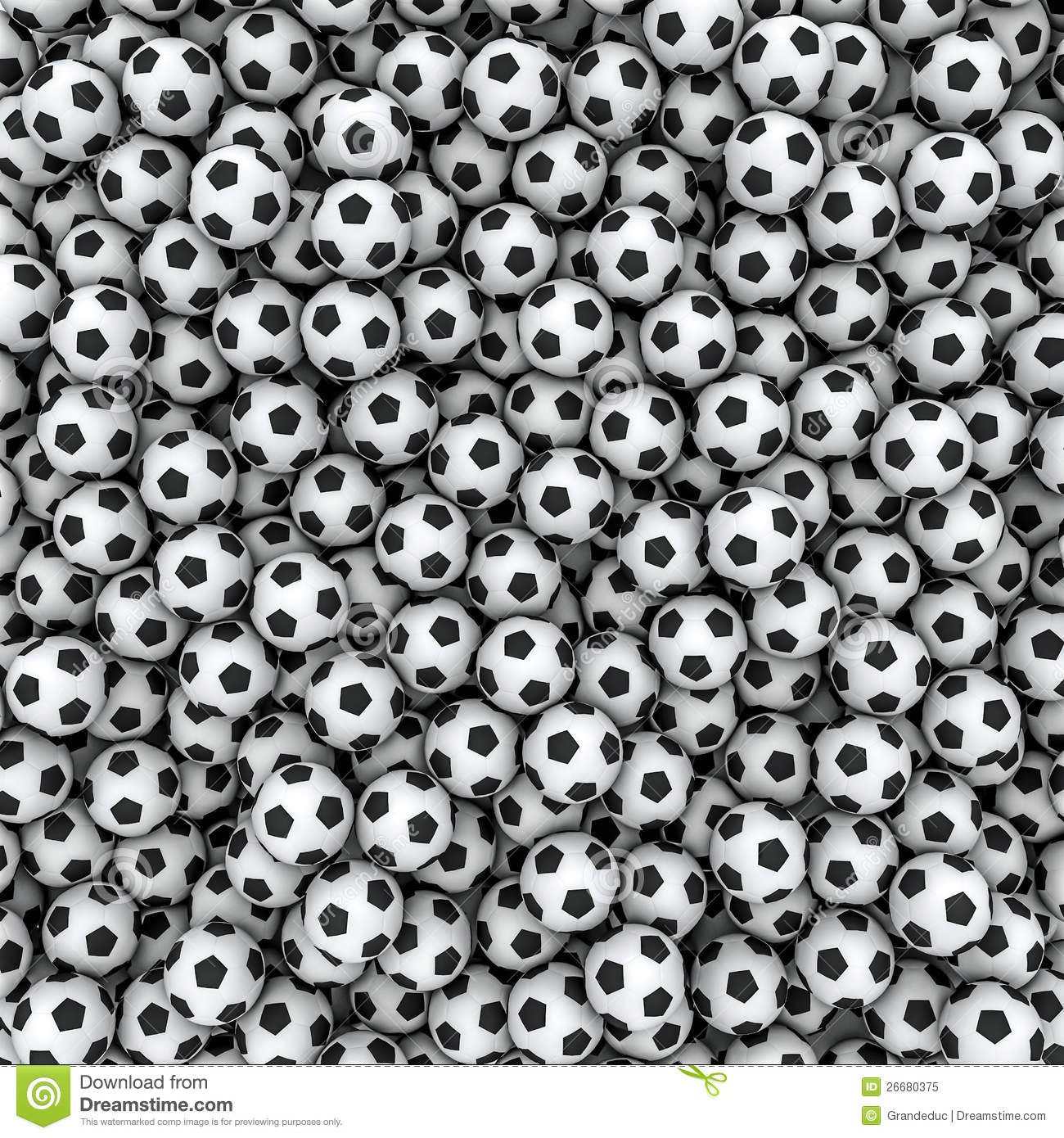 Soccer Balls Background Royalty Free Stock Photo - Image: 26680375