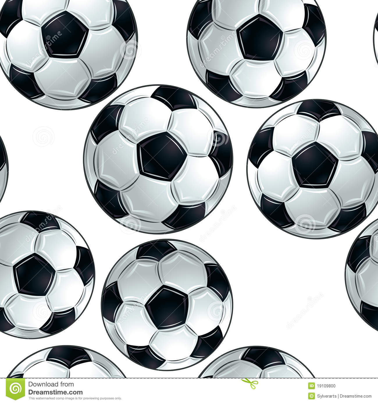 Soccer Balls Seamless Pattern. Stock Photo - Image: 19109800