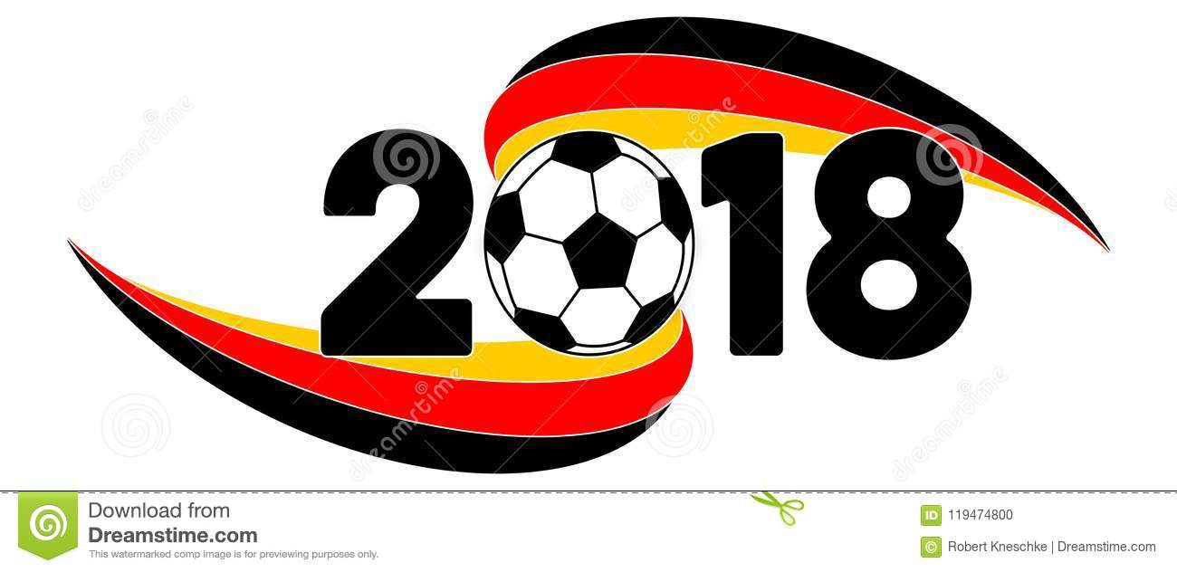 Soccer 2018 Banner With Germany Flag Stock Illustration