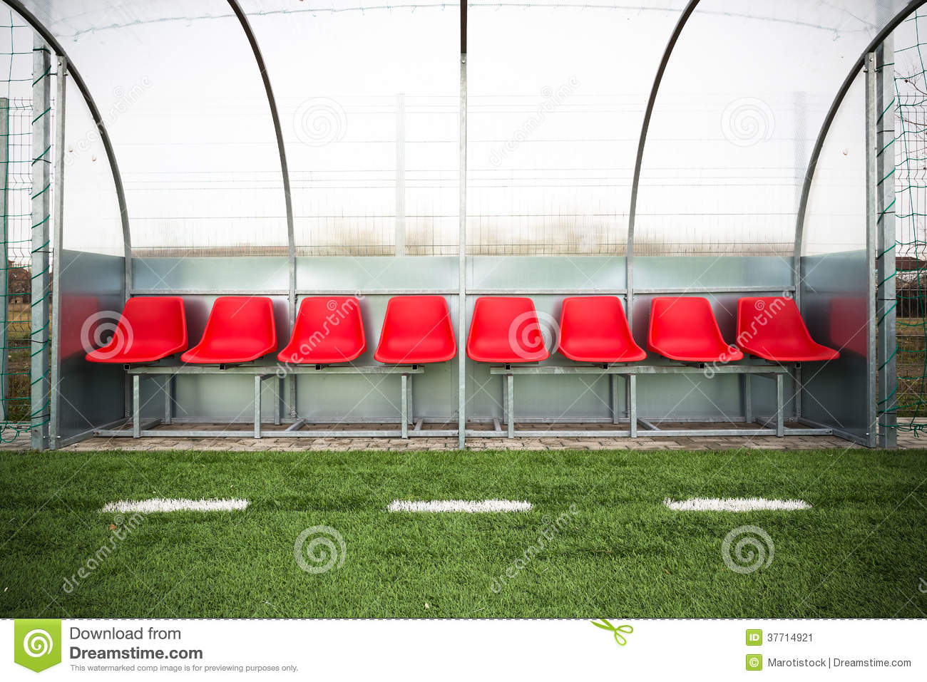 Soccer Bench Stock Image Image Of Lay Game Goal Illustration 37714921