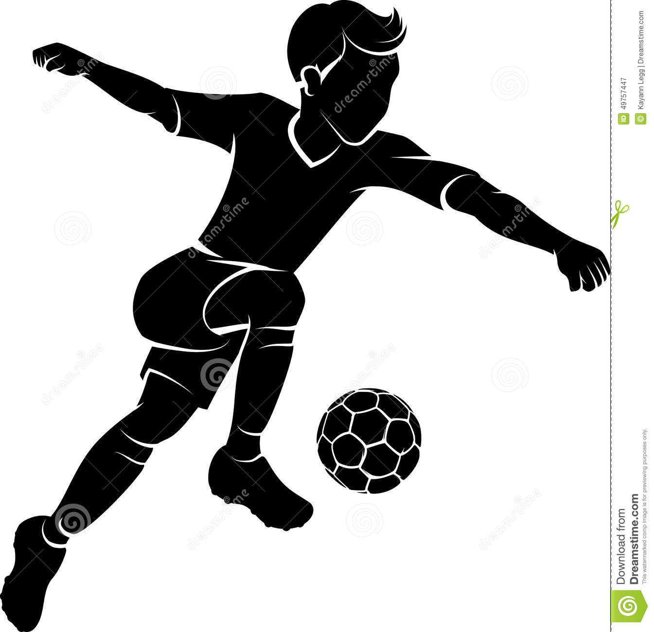 soccer boy kicking silhouette stock vector illustration american football clipart vector american football clipart images