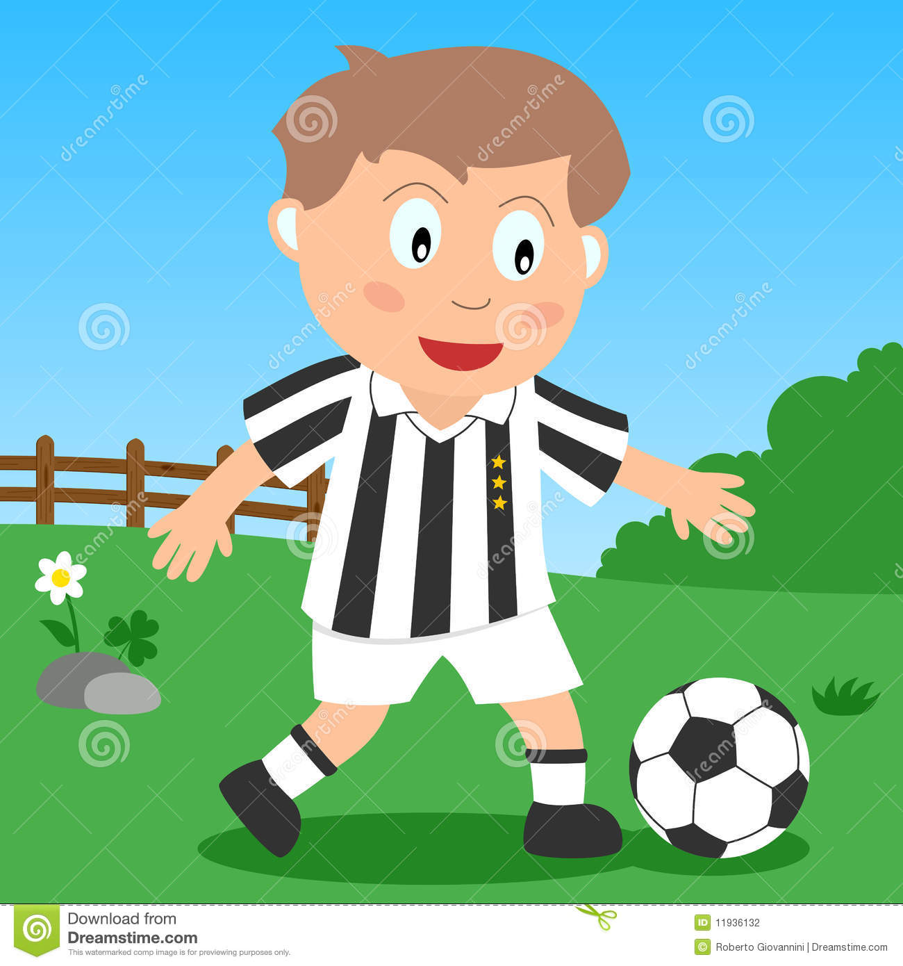 Soccer Boy In The Park Stock Photography Image 11936132