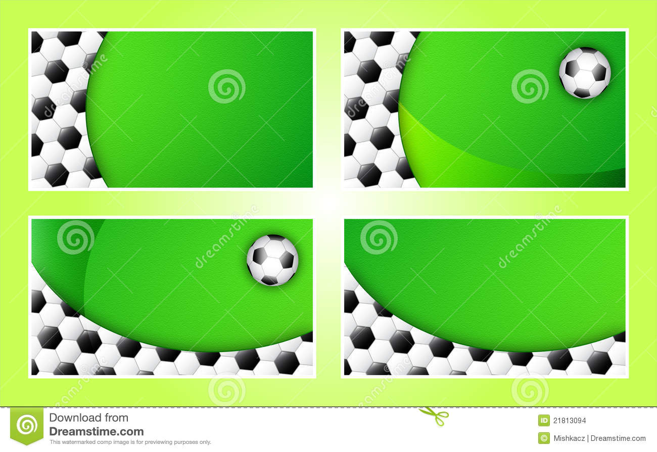 Soccer Business Card Background Template Stock Images - Image ...