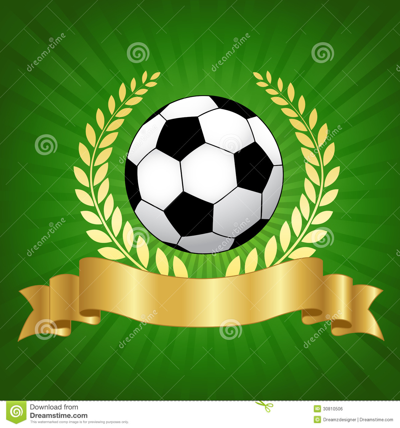 Soccer Championship Design With Football Stock Vector