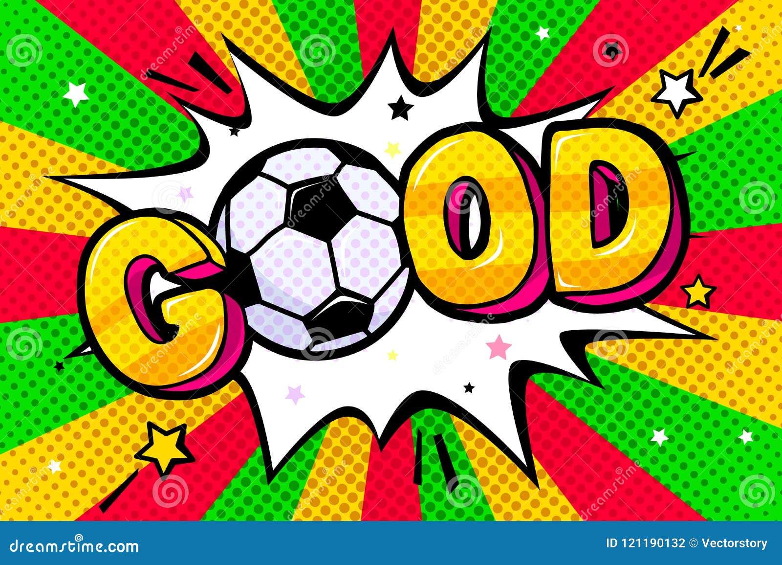 Soccer Concept In Pop Art Style Stock Vector Illustration Of