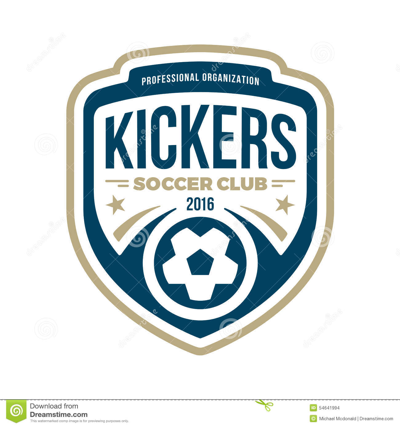 Soccer Crest. Royalty Free Vector
