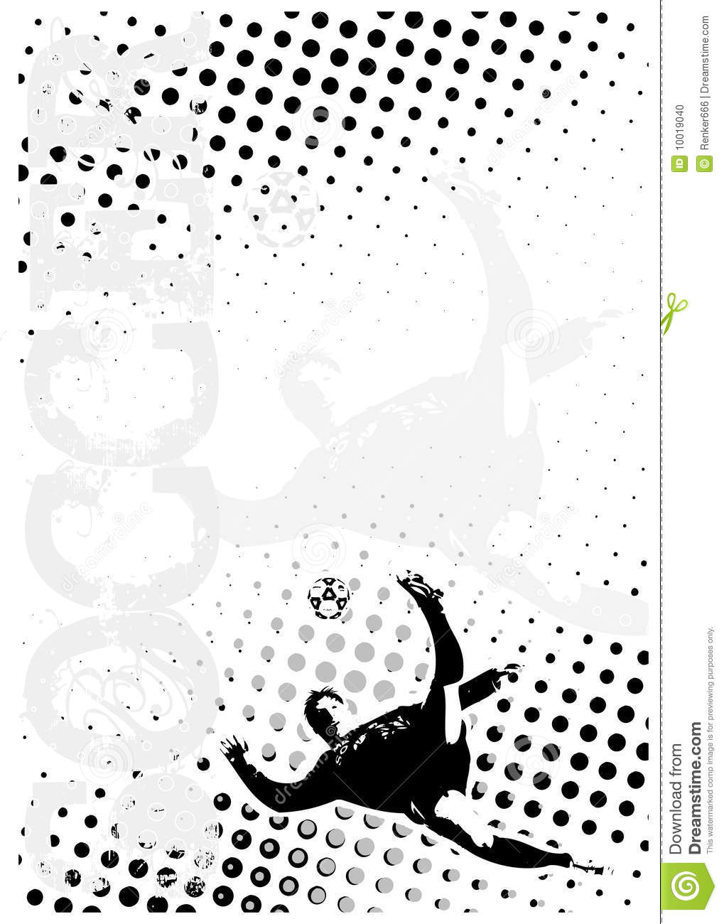 Soccer Dots Poster Background 3 Stock Photo