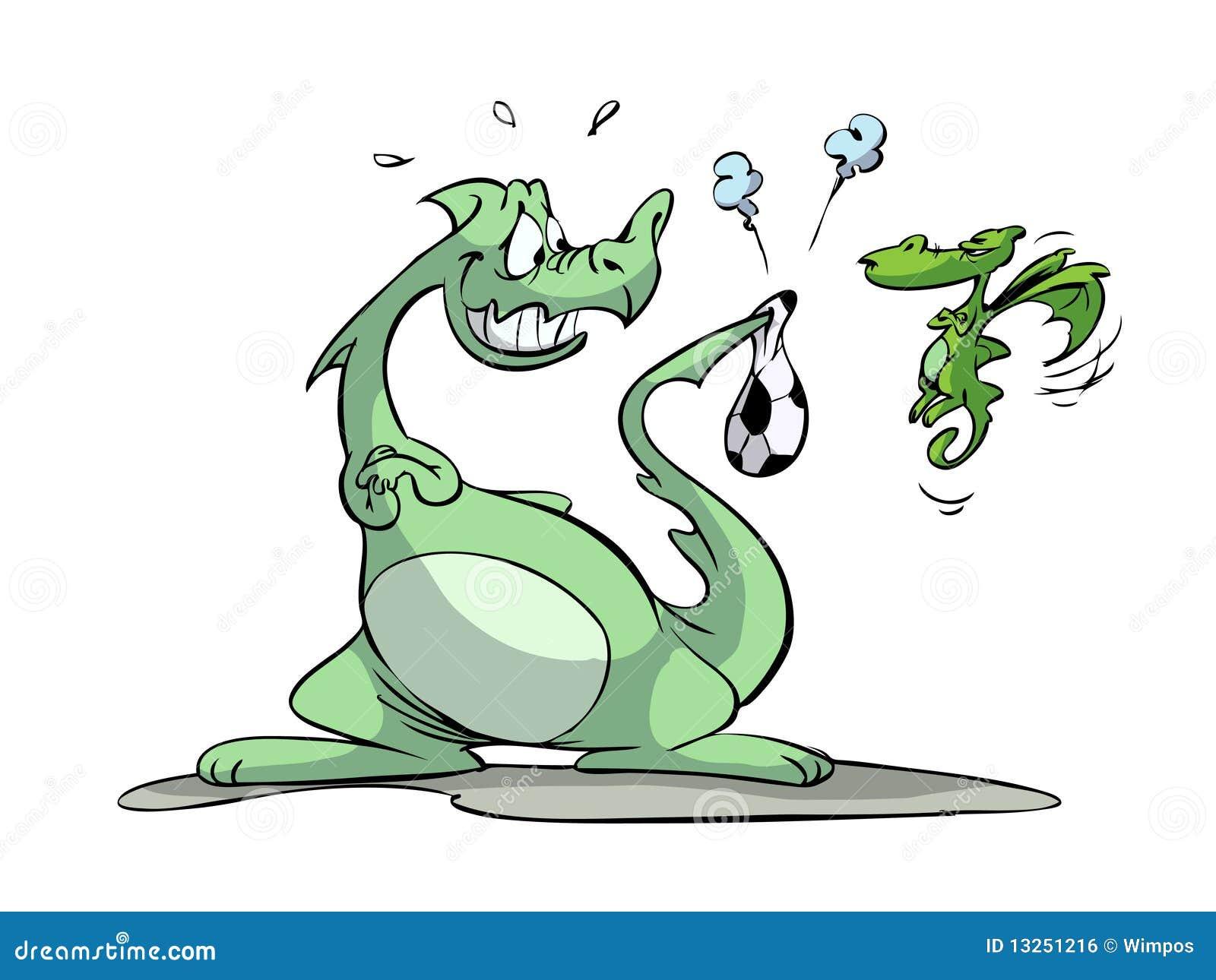 Dragon and soccer ball stock vector. Illustration of magic - 20442264