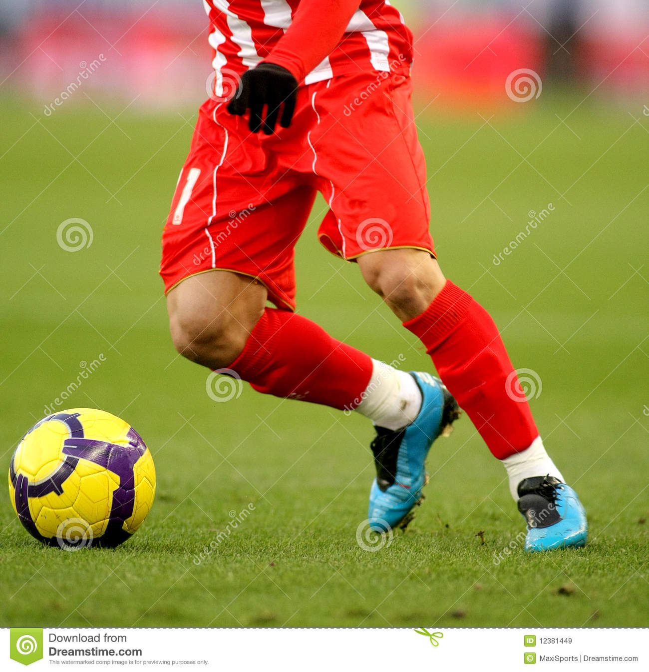 Soccer dribbling stock image. Image of athletic, emotion ...