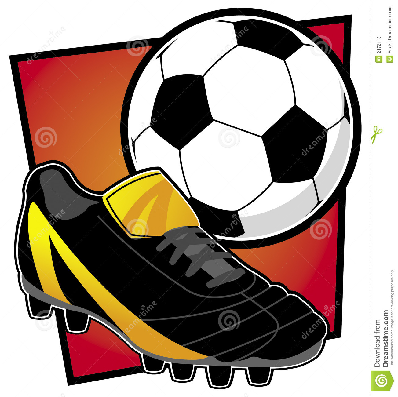 Abstract Illustration Of Basic Soccer Equipment Similar Themed Images