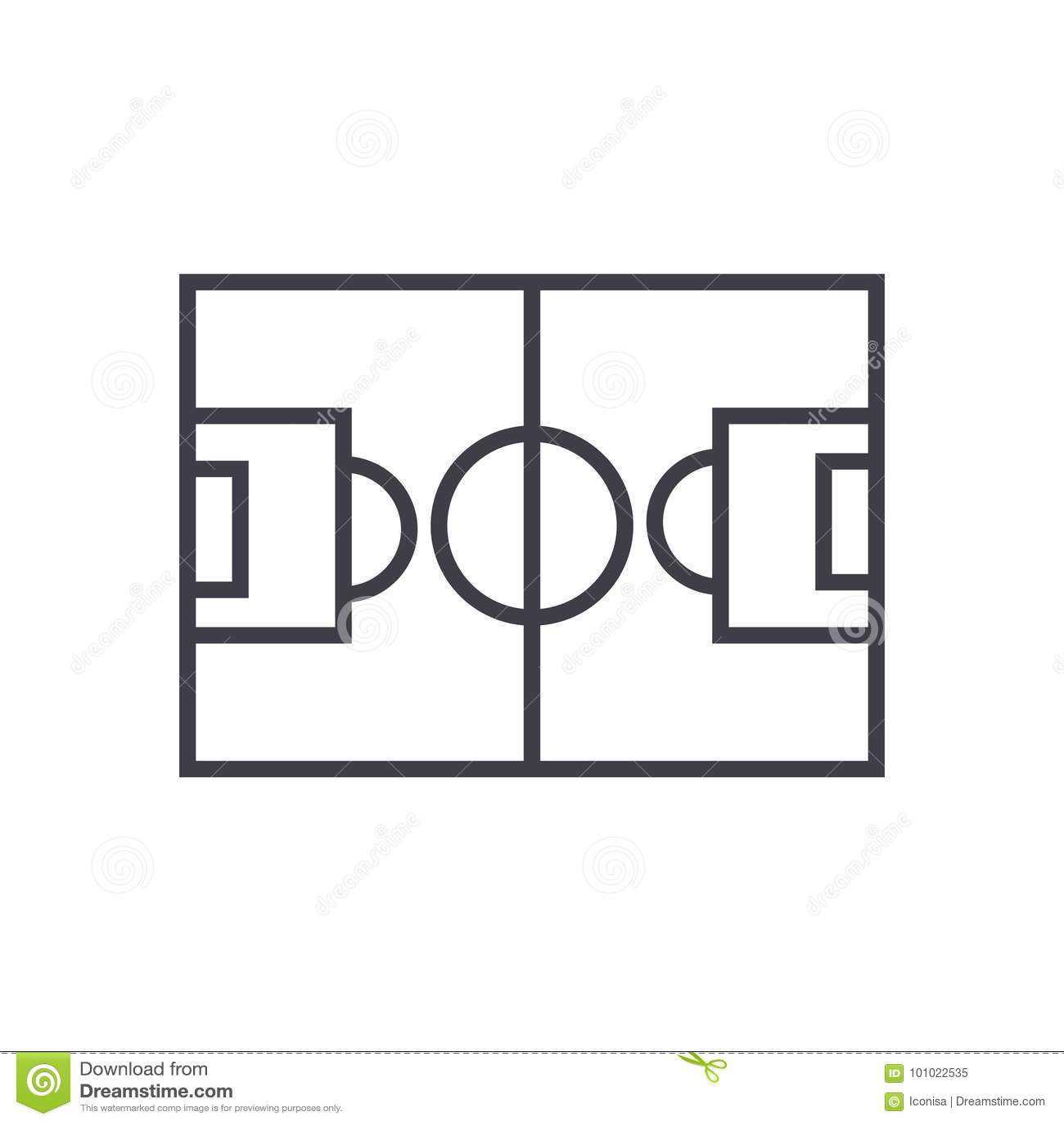 Editable Soccer Field Diagram Block And Schematic Diagrams