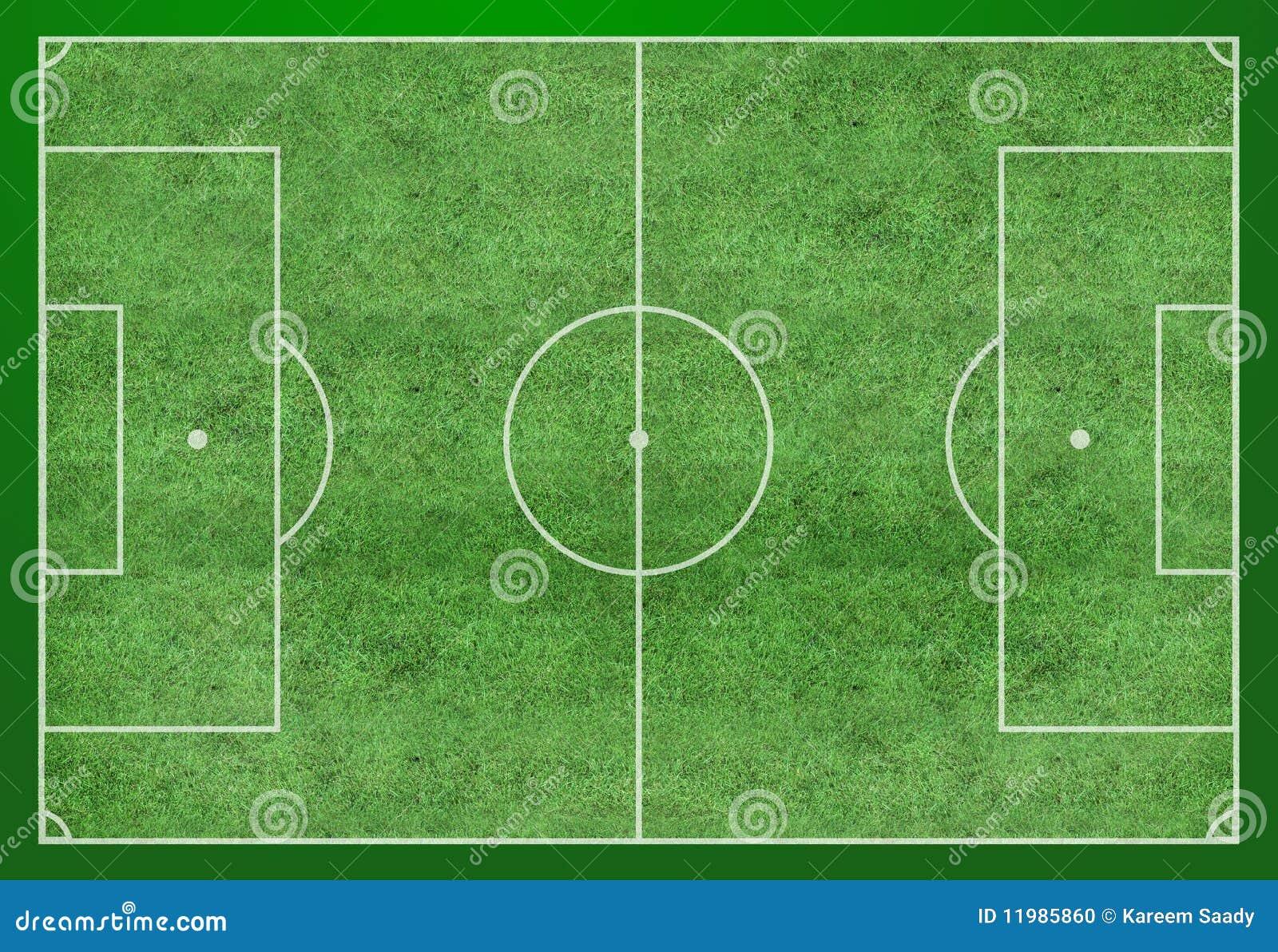 Soccer Field Layout Stock Photo