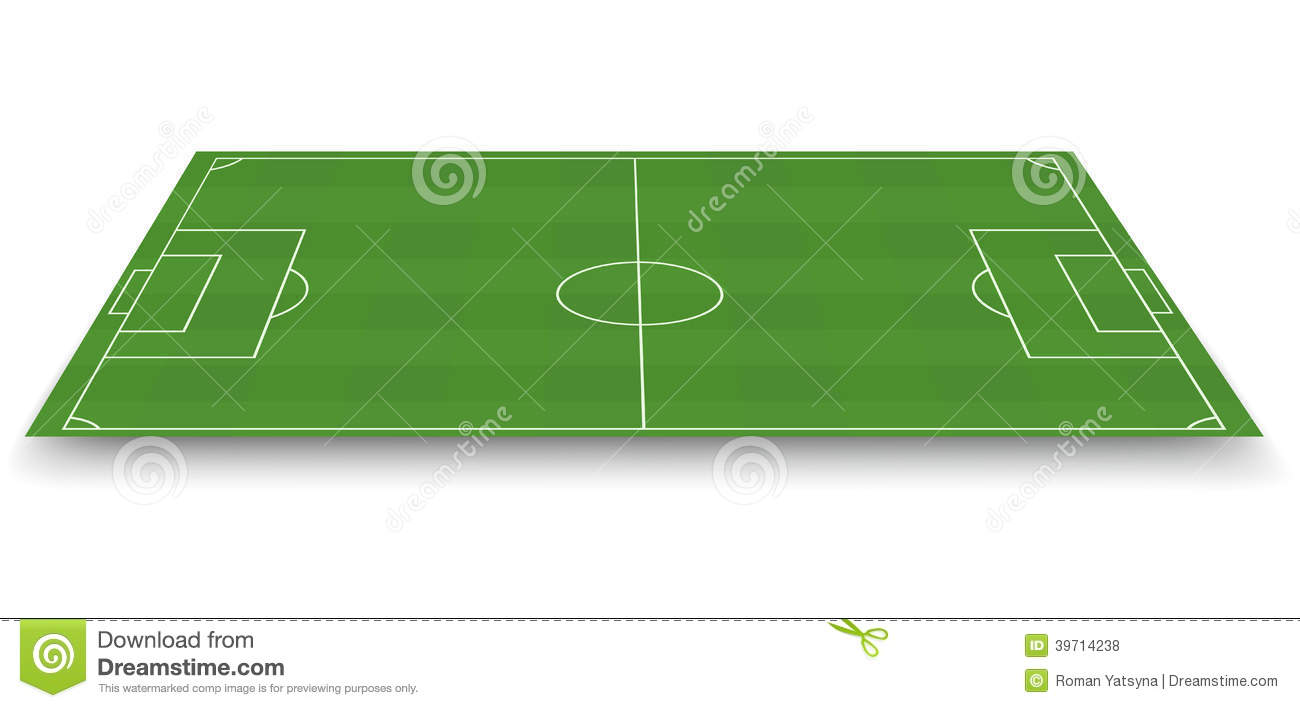 Soccer Field Side View Stock Vector Image 39714238
