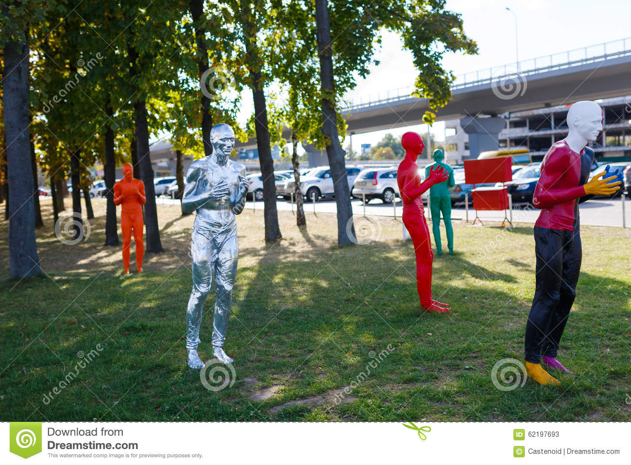 Statues Of Soccer Players Editorial Image 57287062