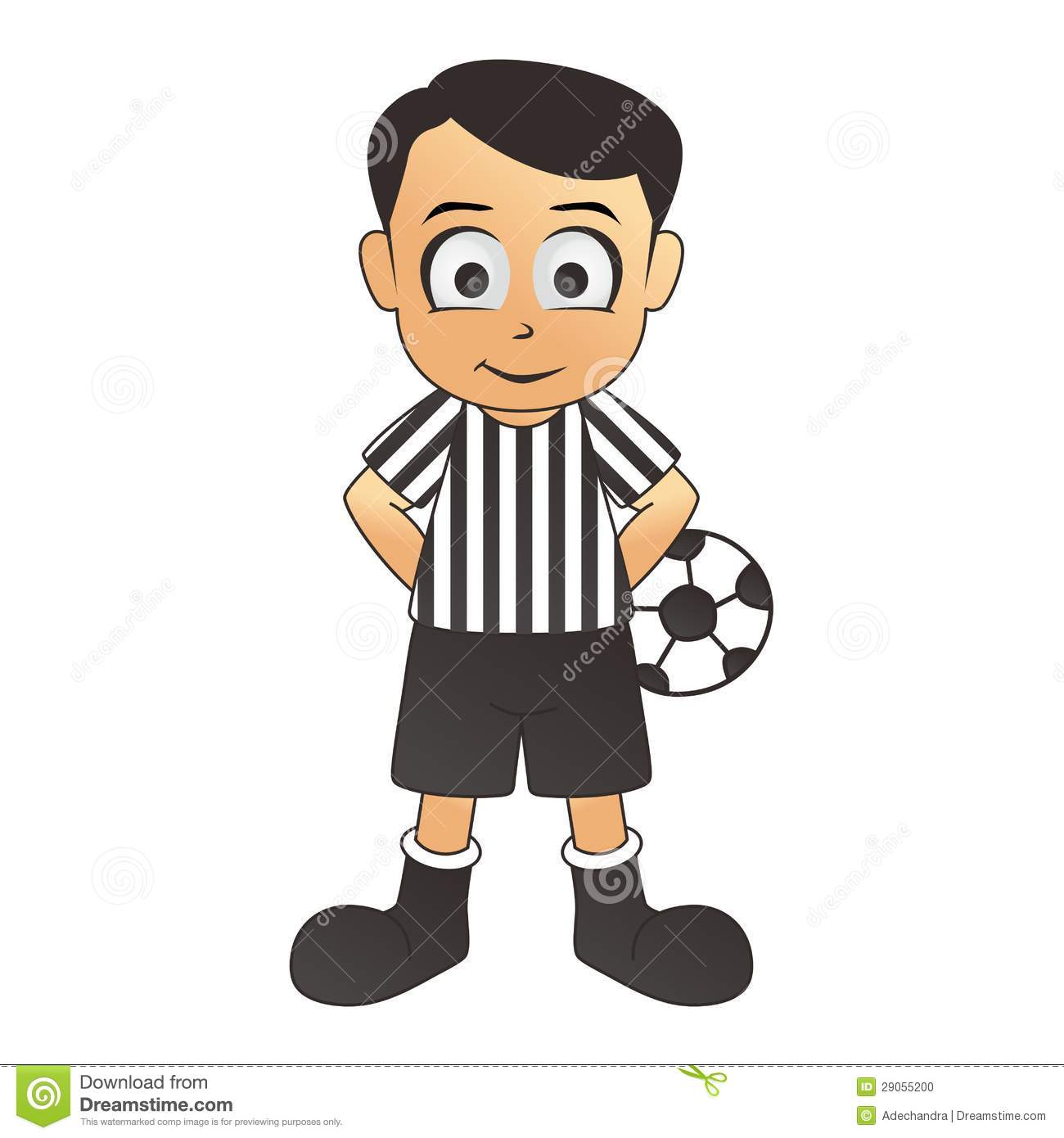 soccer fine referee white cartoon 29055200