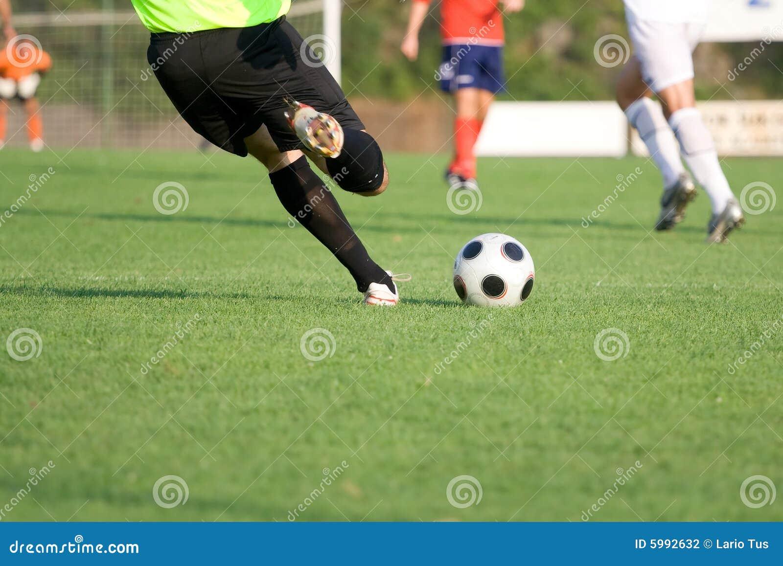soccer  football  action shot stock photography