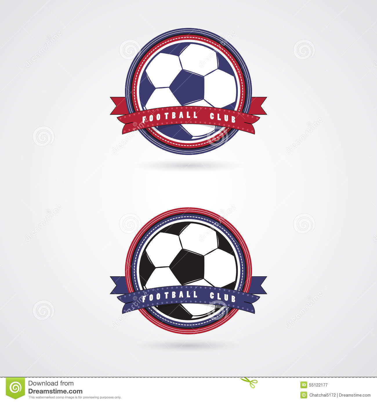 soccer football badge logo design templates stock vector