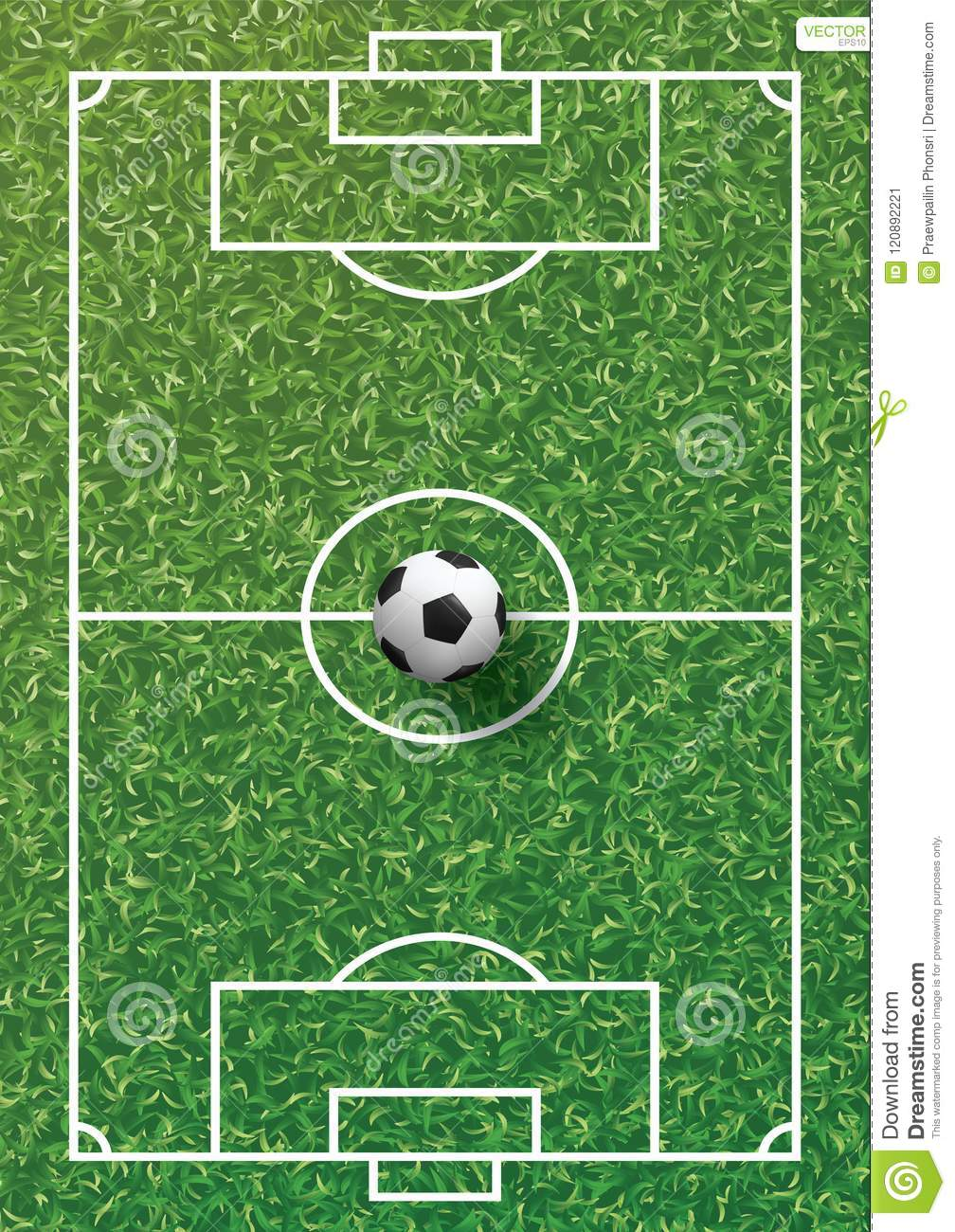 grass texture game high quality soccer football ball on green grass of soccer field with line pattern and texture background vector illustration football ball on green grass of field with line
