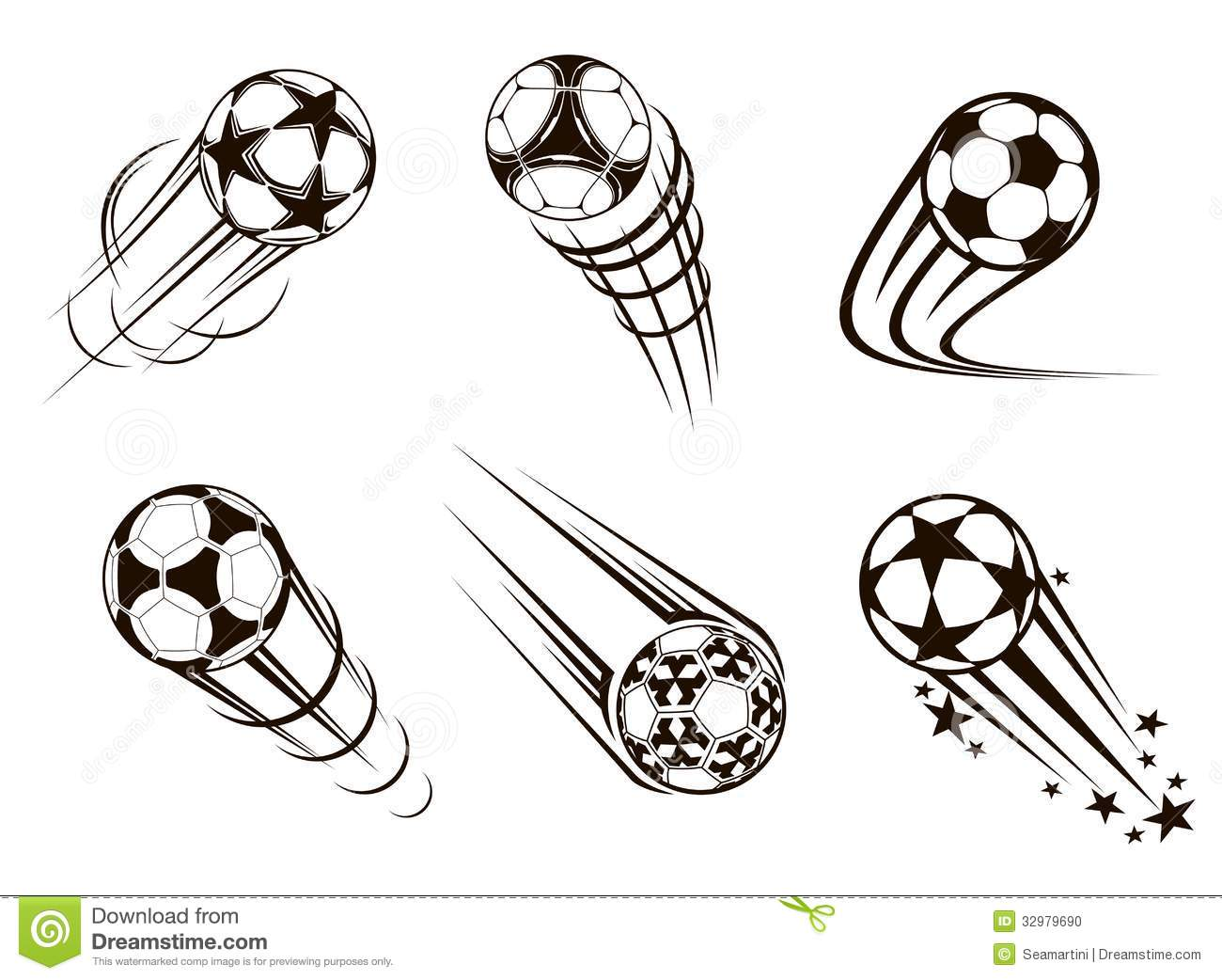 Soccer and football emblems for sport and championship design.