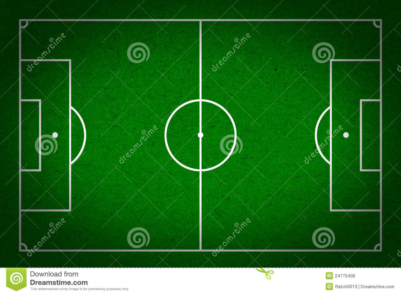 soccer - football field with lines on grunge paper royalty free stock image