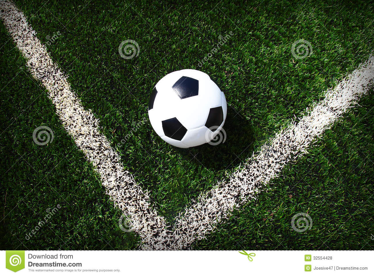 football and soccer field line grass stadium stock image