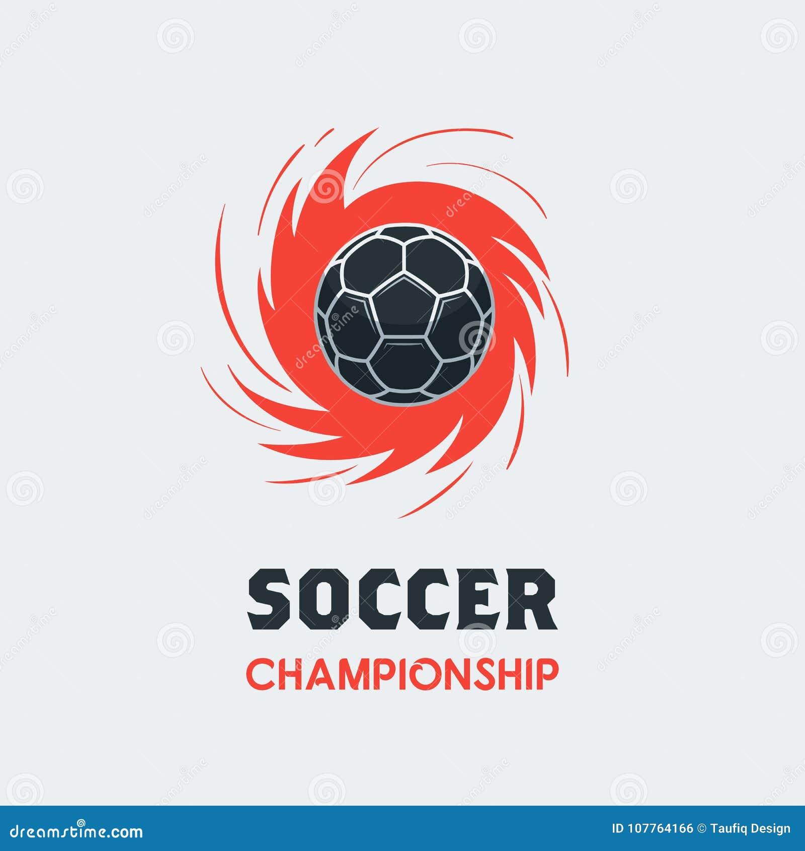 soccer football logo template modern sport ball emblem inside s