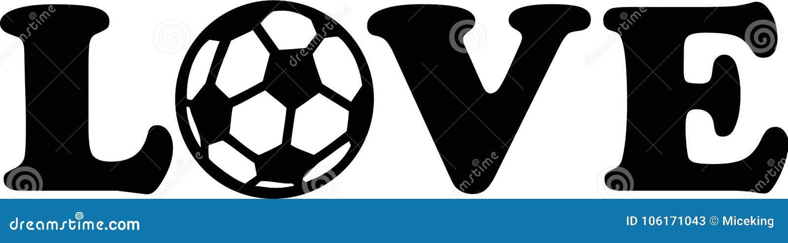 Download Soccer Football Love stock vector. Illustration of logo ...