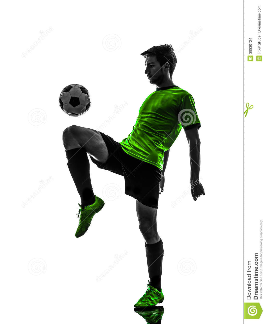 Soccer Football Player Young Man Juggling Silhouet Stock Photo Image