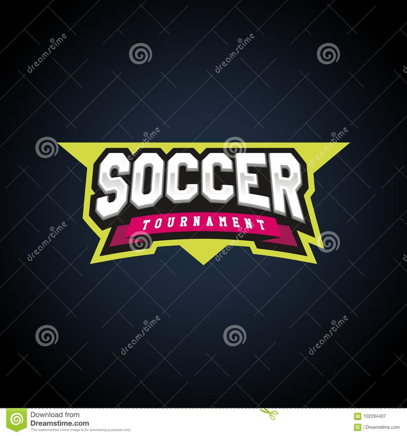 soccer football power sport emblem typography graphics awesome retro