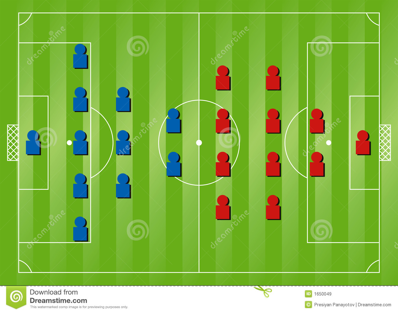 Soccer formation tactics stock illustration  Illustration of soccer